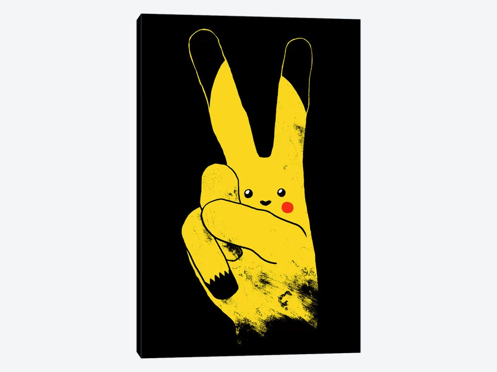 Peace, Love,  And Thundershock by Tobias Fonseca 1-piece Canvas Print