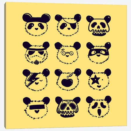 Pop Panda Canvas Print #TFA219} by Tobias Fonseca Canvas Wall Art