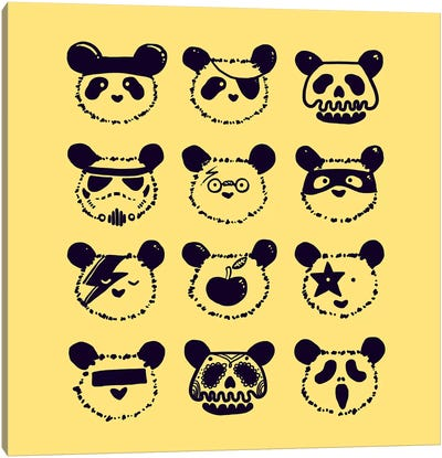 Pop Panda Canvas Art Print