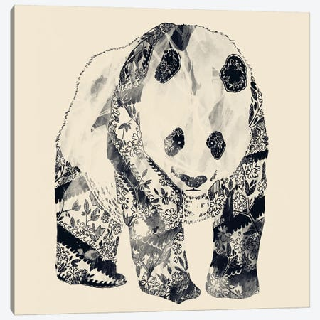 Tattooed Panda Canvas Print #TFA22} by Tobias Fonseca Canvas Art