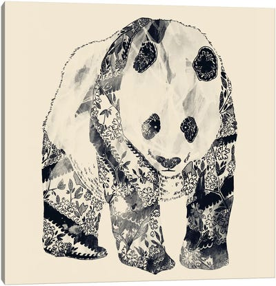 Tattooed Panda Canvas Art Print