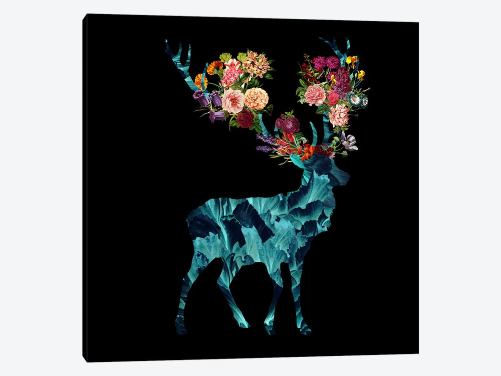 Spring Itself (Floral Dark) by Tobias Fonseca 1-piece Canvas Art Print