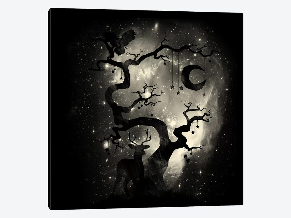 Stardust Forest 1-piece Canvas Art