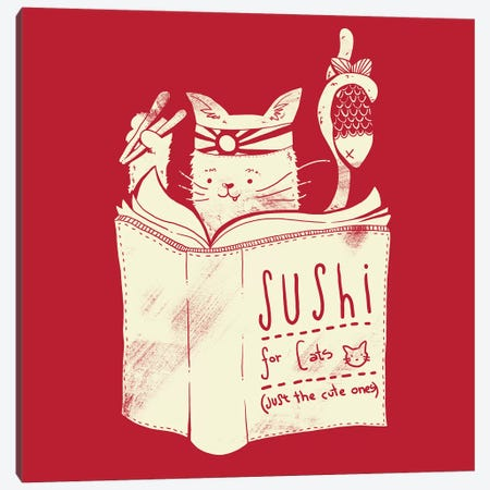 Sushi For Cats Canvas Print #TFA243} by Tobias Fonseca Canvas Print