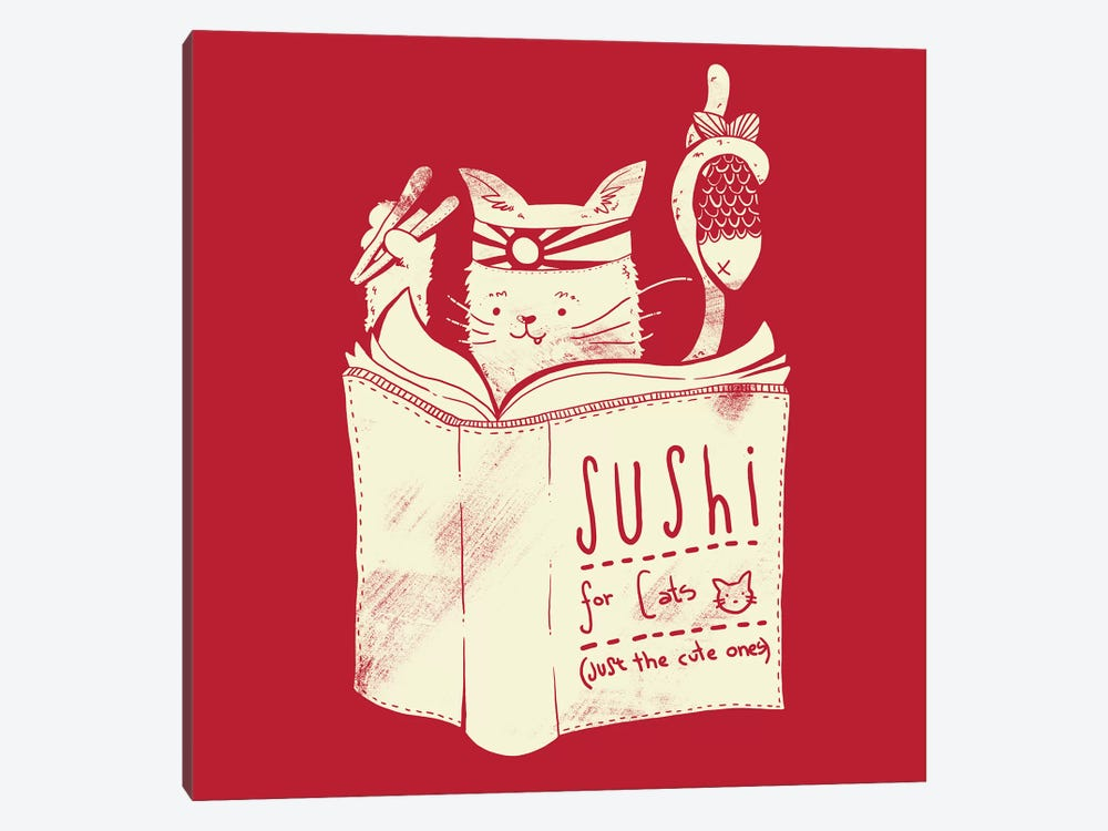 Sushi For Cats by Tobias Fonseca 1-piece Canvas Art Print