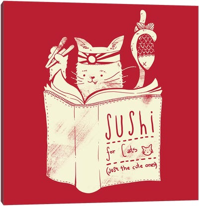 Sushi For Cats Canvas Art Print