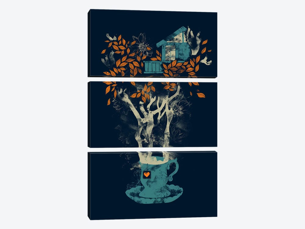 Tea House by Tobias Fonseca 3-piece Canvas Wall Art