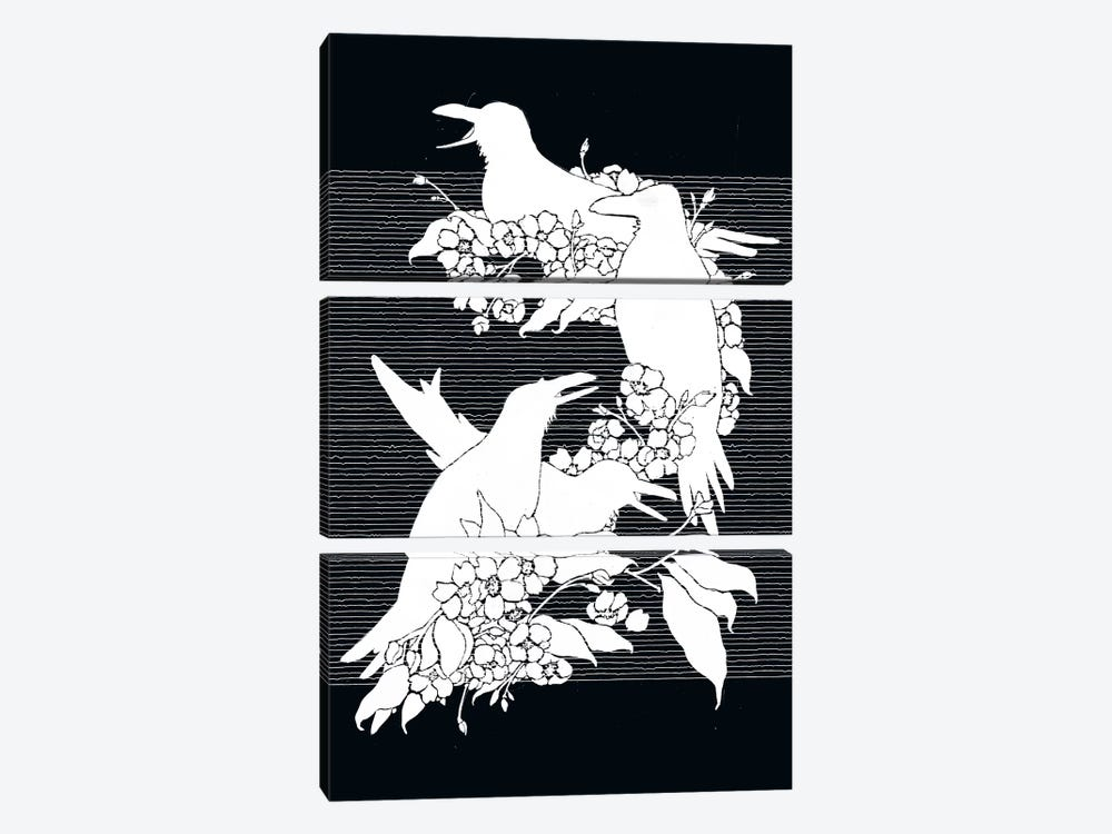 The Black Crows by Tobias Fonseca 3-piece Canvas Art Print