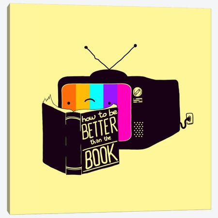 The Book Was Better Canvas Print #TFA246} by Tobias Fonseca Canvas Wall Art
