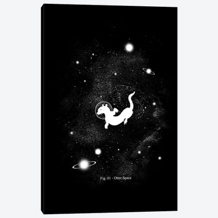 The Otter Space Canvas Print #TFA249} by Tobias Fonseca Art Print