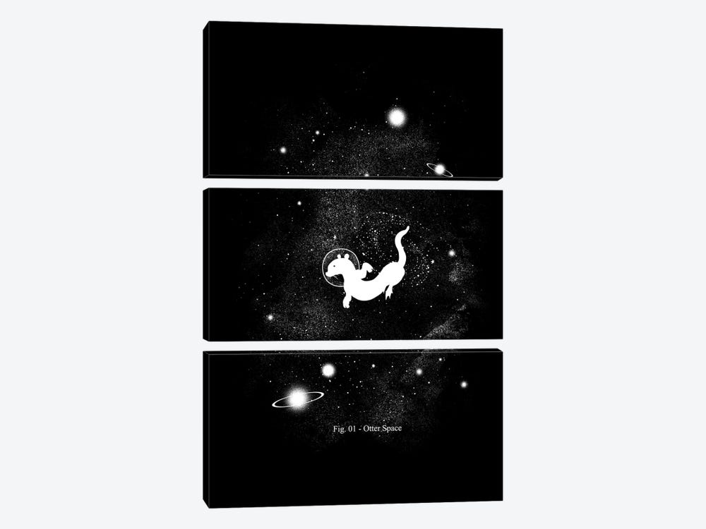 The Otter Space by Tobias Fonseca 3-piece Canvas Art Print