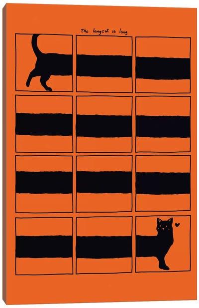 The Longcat Is Long Canvas Print #TFA25