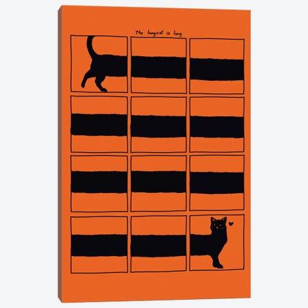 The Longcat Is Long Canvas Print #TFA25} by Tobias Fonseca Art Print