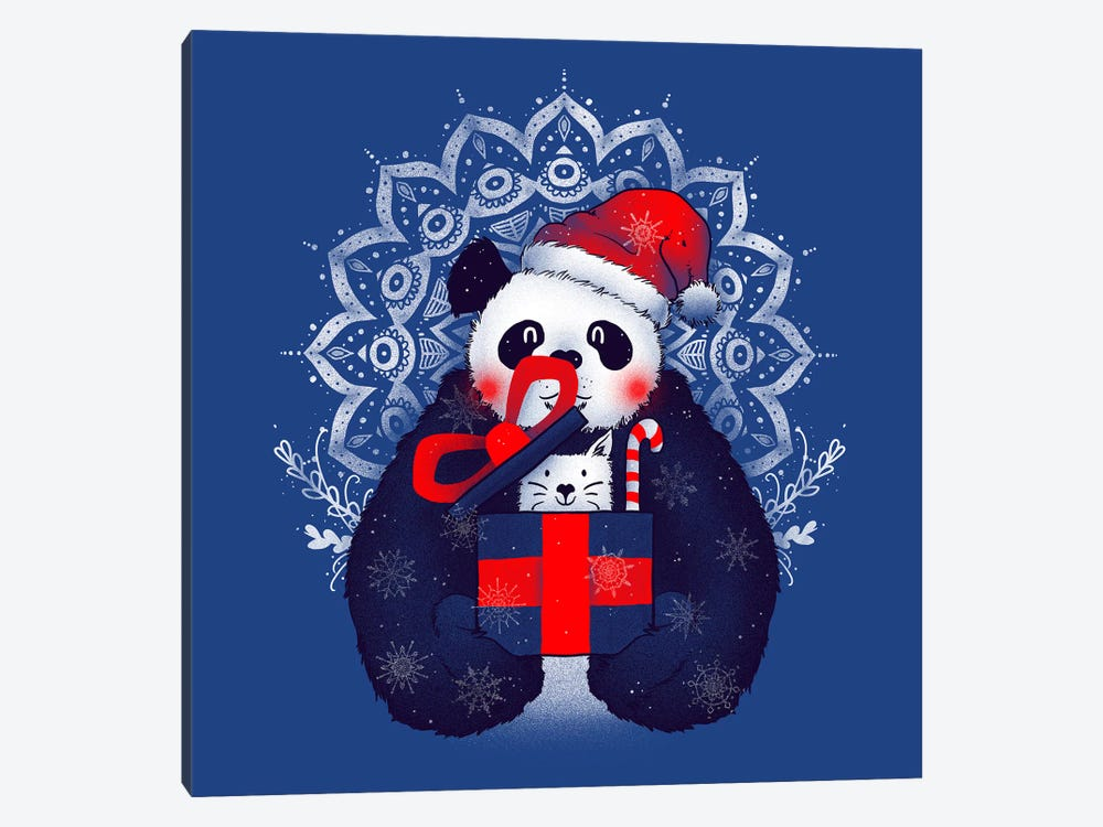 X-mas Panda by Tobias Fonseca 1-piece Canvas Wall Art
