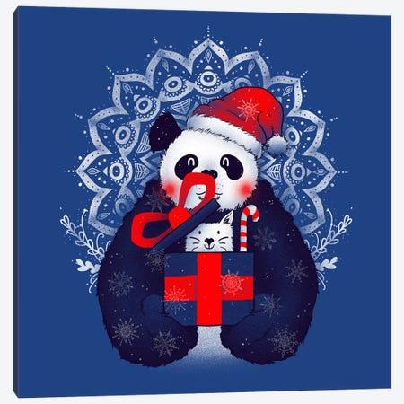X-mas Panda Canvas Print #TFA273} by Tobias Fonseca Canvas Art