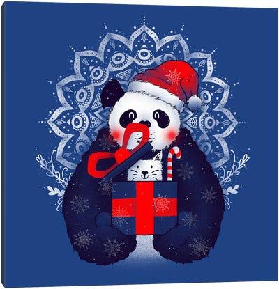 X-mas Panda Canvas Art Print