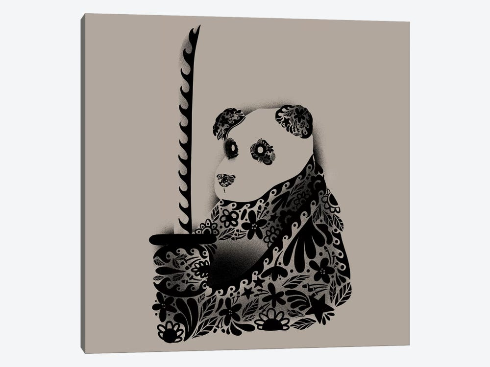 Yakuza Panda 1-piece Canvas Artwork