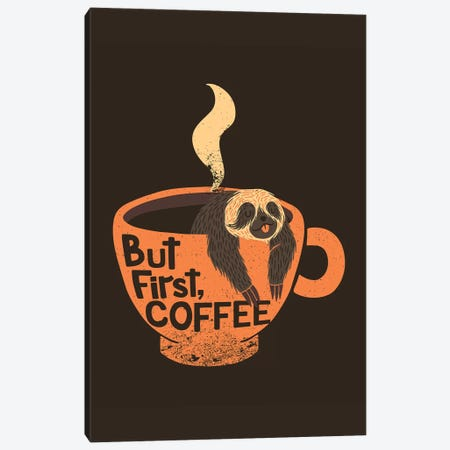 But First, Coffee, Rectangle Canvas Print #TFA284} by Tobias Fonseca Canvas Wall Art