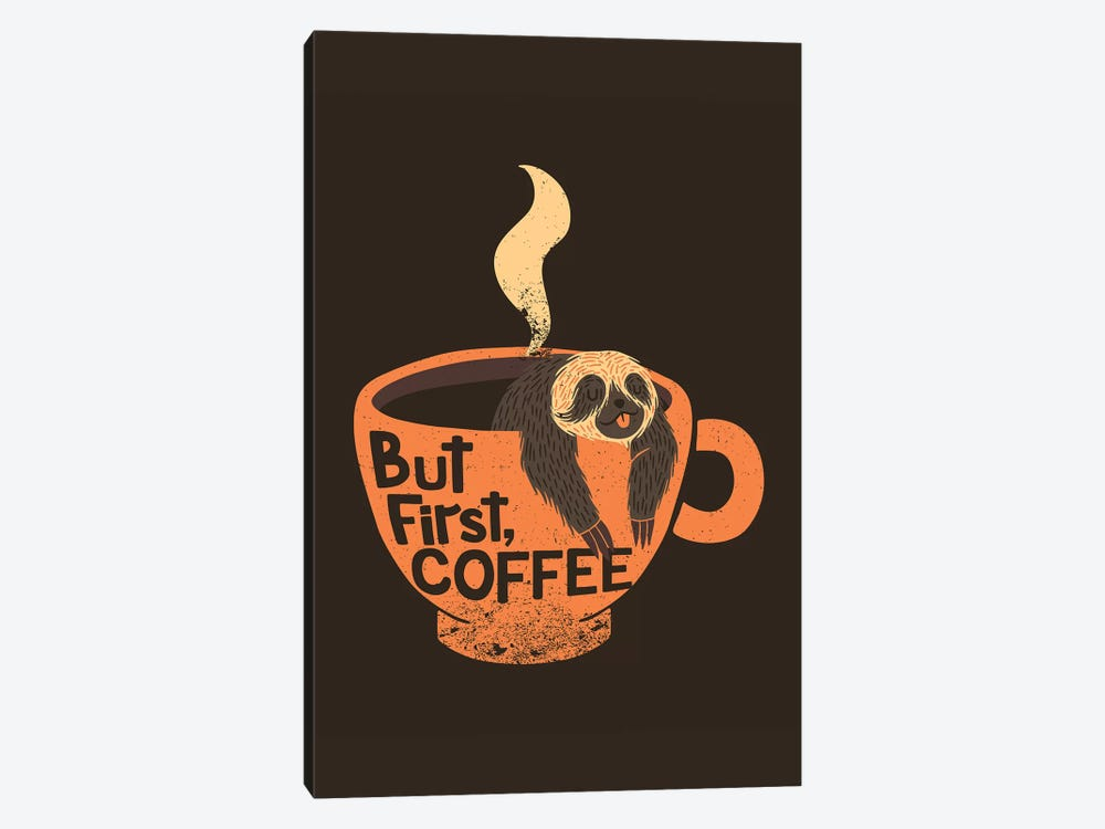 But First, Coffee, Rectangle by Tobias Fonseca 1-piece Canvas Wall Art
