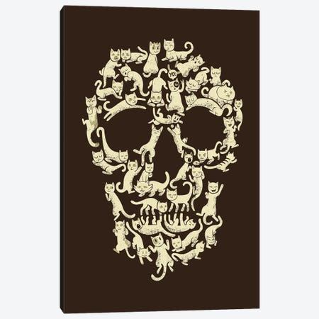 Catskull, Rectangle Canvas Print #TFA288} by Tobias Fonseca Art Print