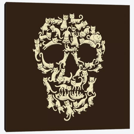 Catskull, Square Canvas Print #TFA289} by Tobias Fonseca Canvas Art Print