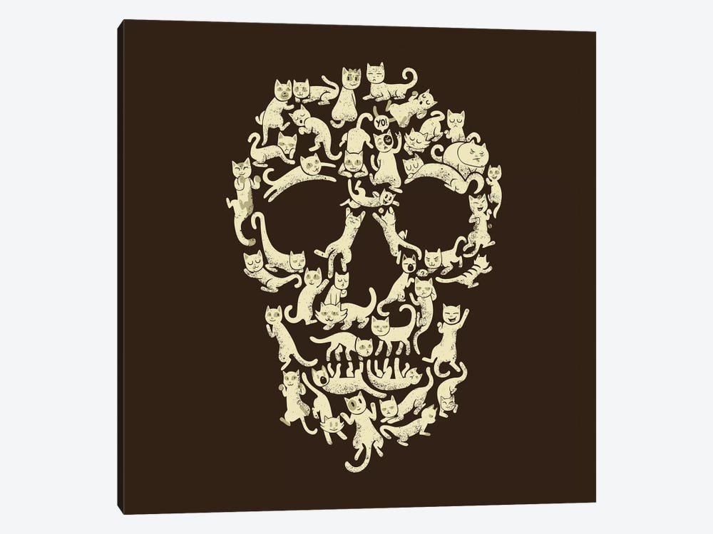 Catskull, Square by Tobias Fonseca 1-piece Canvas Art Print
