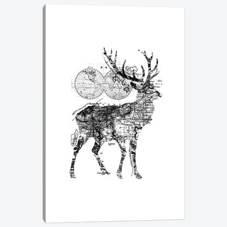 Deer Wanderlust, Rectangle Canvas Print #TFA290} by Tobias Fonseca Canvas Wall Art