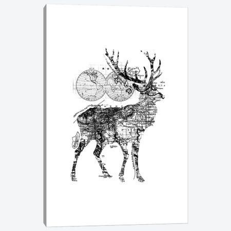 Deer Wanderlust, Rectangle Canvas Print #TFA290} by Tobias Fonseca Canvas Wall Art