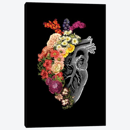 Flower Heart Spring, Rectangle Canvas Print #TFA292} by Tobias Fonseca Canvas Artwork