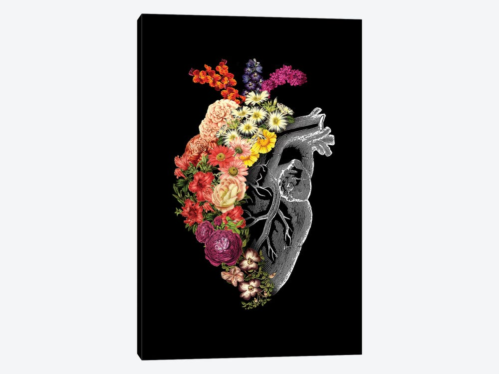 Flower Heart Spring, Rectangle by Tobias Fonseca 1-piece Canvas Art Print