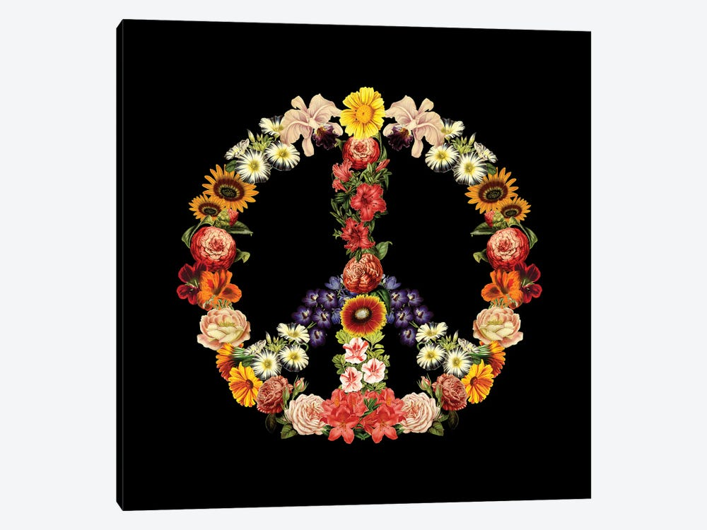 Flower Power, Square by Tobias Fonseca 1-piece Canvas Art