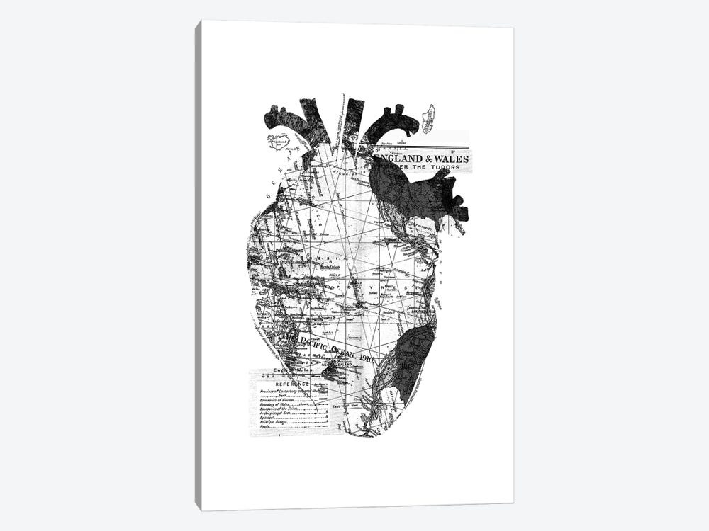 Heart Wanderlust, Rectangle by Tobias Fonseca 1-piece Canvas Art Print
