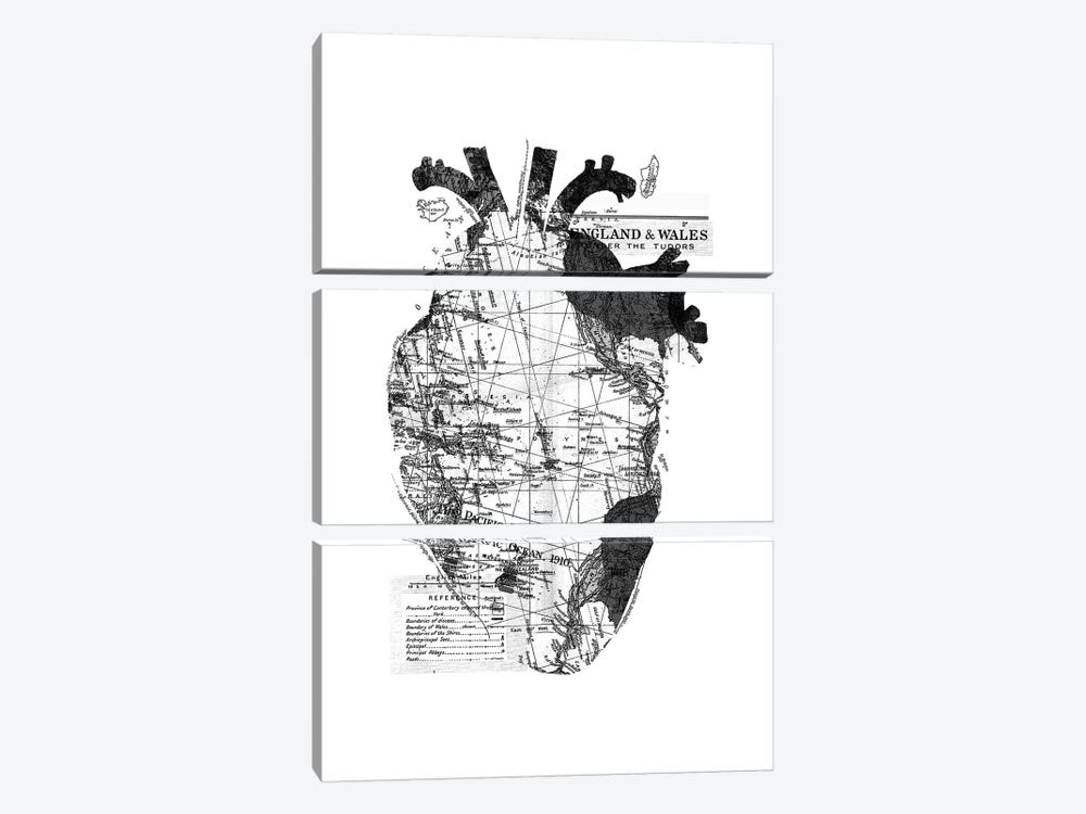 Heart Wanderlust, Rectangle by Tobias Fonseca 3-piece Canvas Print