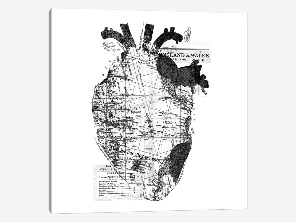 Heart Wanderlust, Square by Tobias Fonseca 1-piece Canvas Wall Art