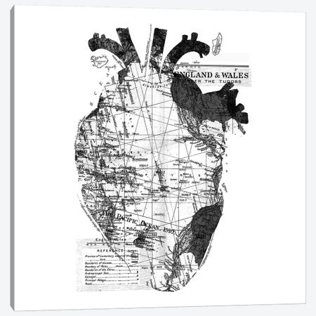 Heart Wanderlust, Square Canvas Print #TFA299} by Tobias Fonseca Canvas Wall Art
