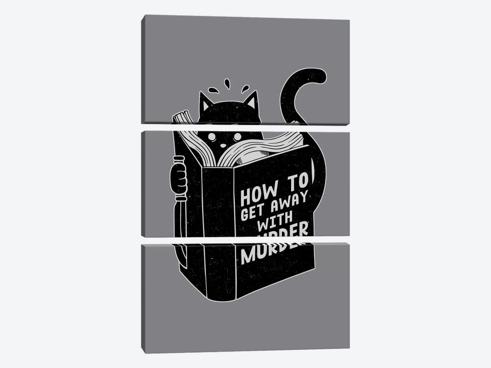 How To Get Away With Murder, Rectangle by Tobias Fonseca 3-piece Canvas Art Print