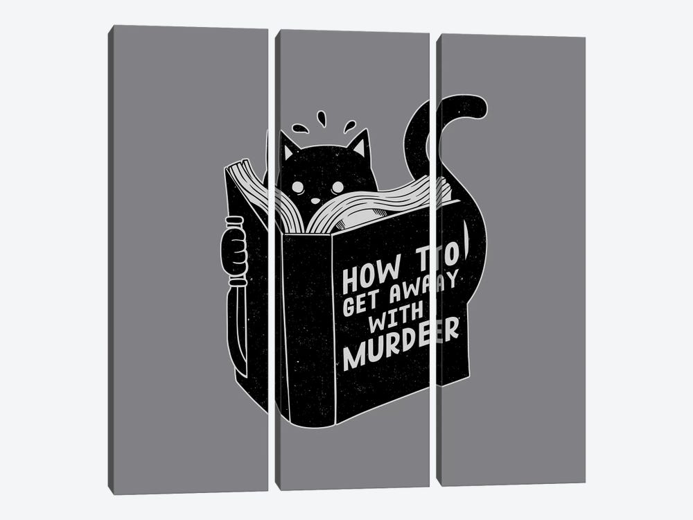 How To Get Away With Murder, Square by Tobias Fonseca 3-piece Canvas Art
