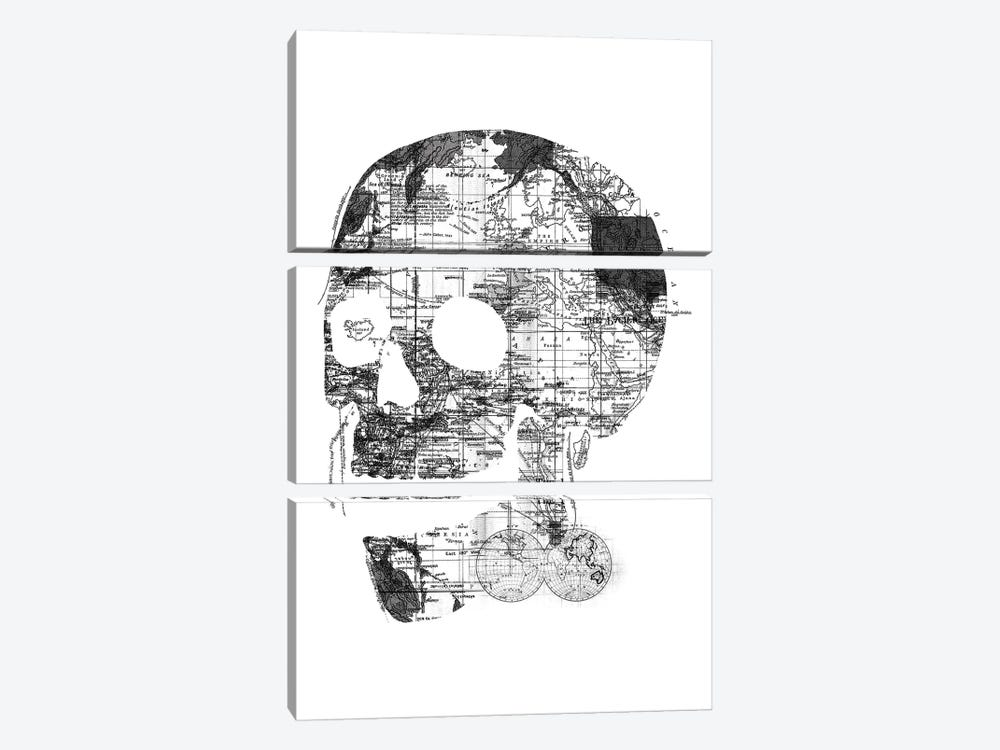 Skull Wanderlust, Rectangle 3-piece Art Print