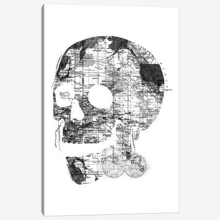 Skull Wanderlust, Rectangle Canvas Print #TFA302} by Tobias Fonseca Canvas Art