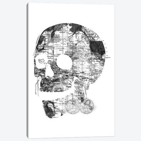 Skull Wanderlust, Rectangle Canvas Print #TFA302} by Tobias Fonseca Canvas Art