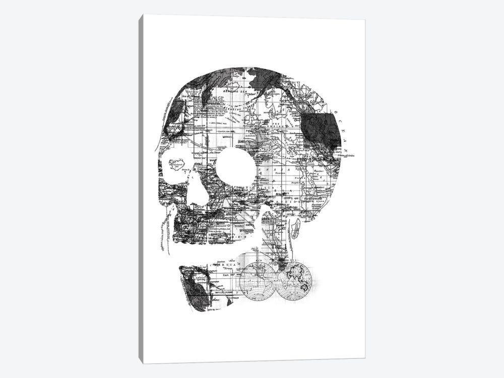 Skull Wanderlust, Rectangle by Tobias Fonseca 1-piece Canvas Art Print