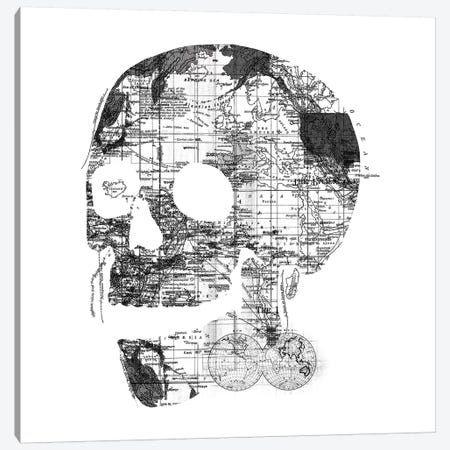 Skull Wanderlust, Square Canvas Print #TFA303} by Tobias Fonseca Canvas Artwork
