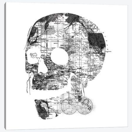 Skull Wanderlust, Square Canvas Print #TFA303} by Tobias Fonseca Canvas Artwork