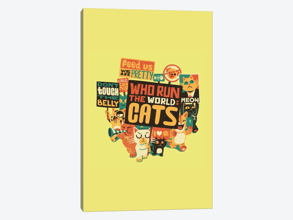 Who Run The World: Cats, Rectangle by Tobias Fonseca 1-piece Art Print