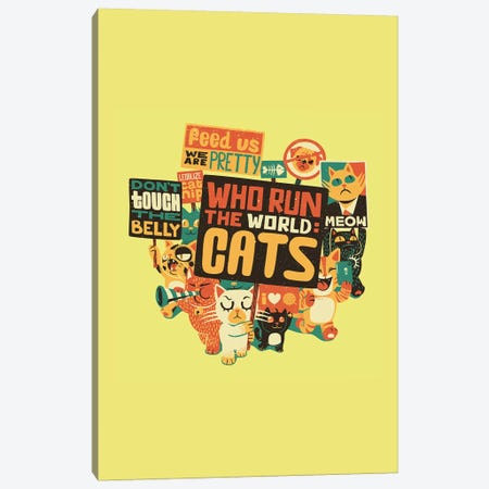 Who Run The World: Cats, Rectangle 3-Piece Canvas #TFA304} by Tobias Fonseca Canvas Art Print