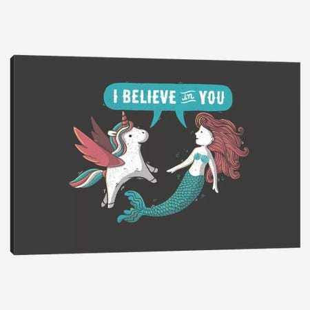 I Believe In You Canvas Print #TFA314} by Tobias Fonseca Canvas Wall Art