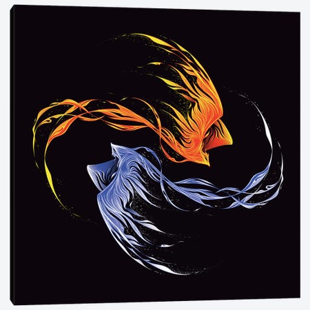 Phoenix Ice And Fire Canvas Print #TFA325} by Tobias Fonseca Canvas Art Print