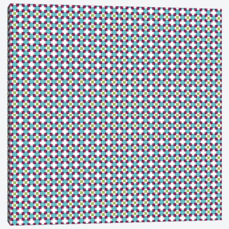 Pixel Blocks Pattern Canvas Print #TFA327} by Tobias Fonseca Art Print