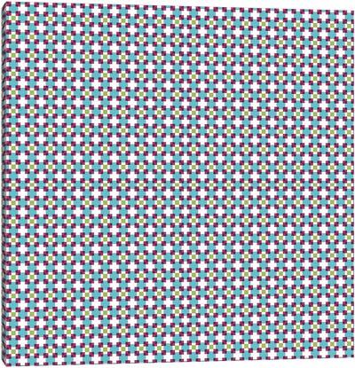 Pixel Blocks Pattern Canvas Art Print