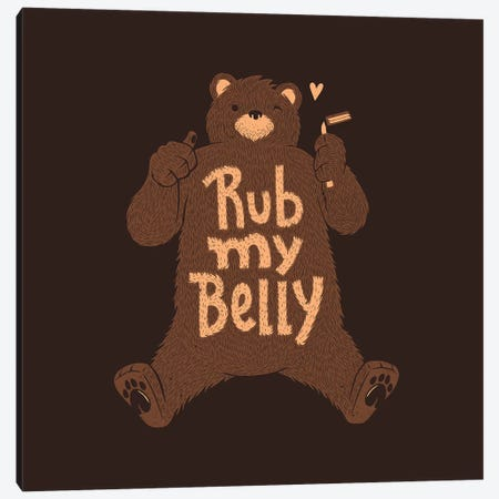 Rub My Belly Canvas Print #TFA329} by Tobias Fonseca Canvas Wall Art